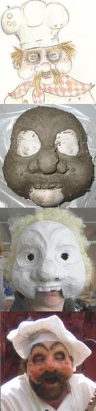 making chef mask